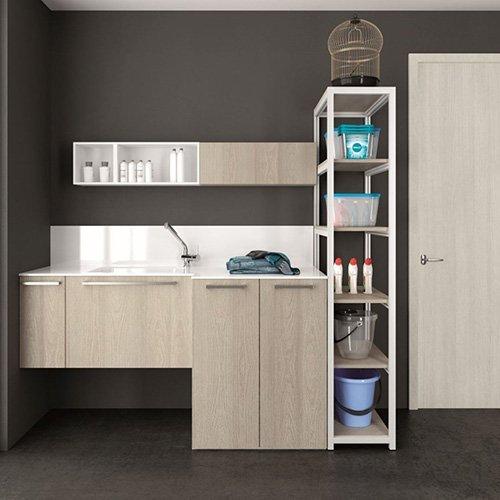 Mobili da bagno archeda serie laundry edil prodotti materiali edili pavimenti - Arredo bagno legnano ...